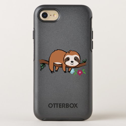 Cute sloth on the branch Phone Case