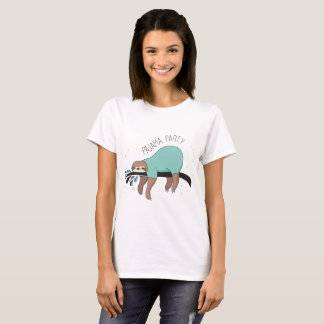 Cute Sloth Pajama Party Women's T-Shirt