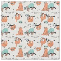 Cute Sloth Pattern Fabric