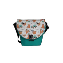 Cute Sloth Pattern Messenger Bag