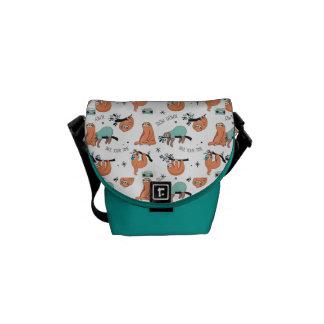 Cute Sloth Pattern Messenger Bag