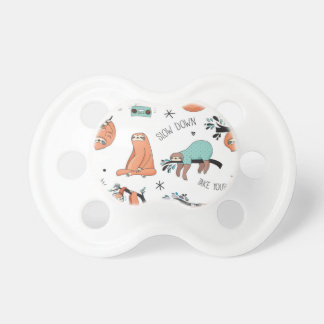 Cute Sloth Pattern Pacifier