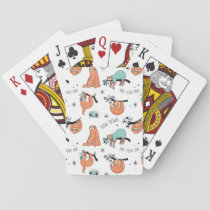 Cute Sloth Pattern Playing Cards