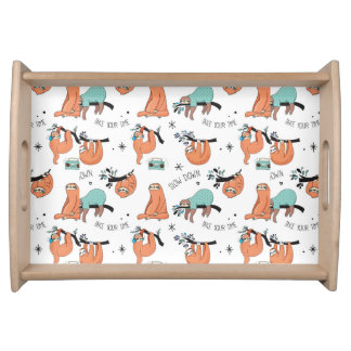 Cute Sloth Pattern Serving Tray