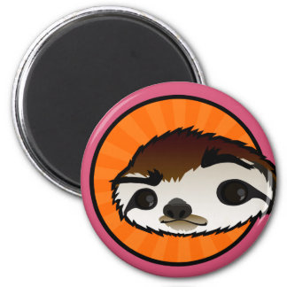 CUTE SLOTH ROUND MAGNET