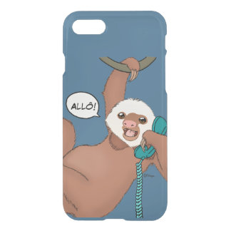 Cute Sloth With a Phone iPhone 7 Case