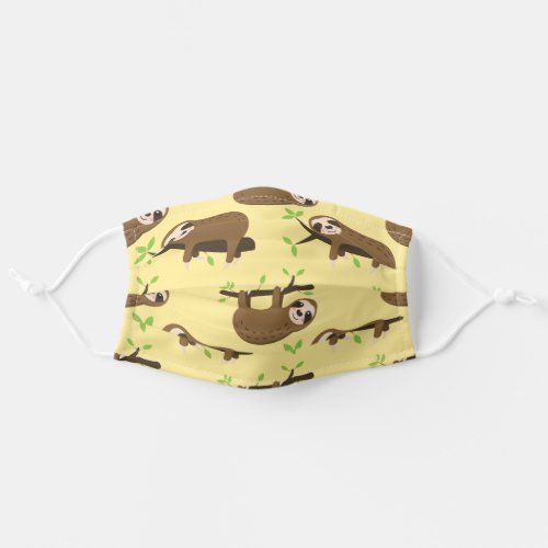 Cute Sloths Adult Cloth Face Mask