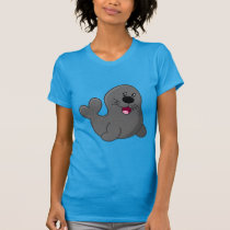 Cute small baby seal animation illustration T-Shirt