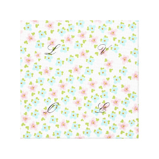 Cute,small,floral,pattern,trendy,girly,country,fun Canvas Print