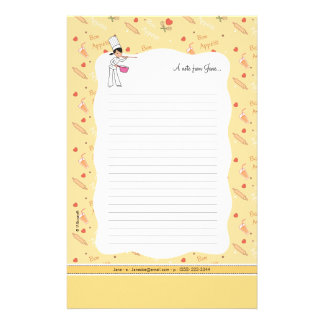 Cute Small kitchen Stationery Sheets
