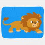 Cute Smart Cartoon Lion Baby Blanket