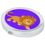 Cute Smart Cartoon Lion Compact Mirror