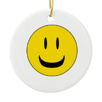 cute smile ceramic ornament