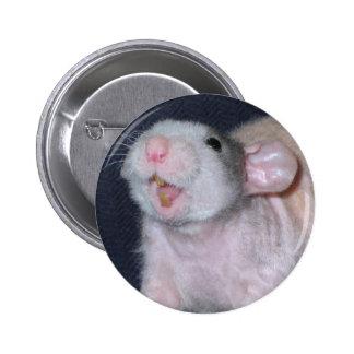Cute Smile Rat Button