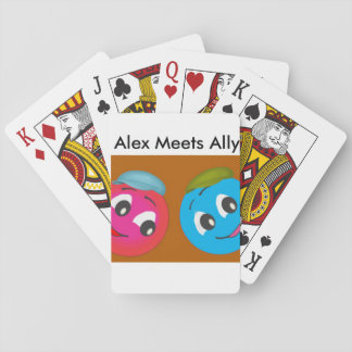 Cute Smiley Alex And AllyAlex Meets Ally Fun Photo Playing Cards