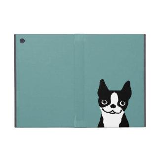 Cute Smiley Boston Terrier - Color Customizable iPad Mini Covers
