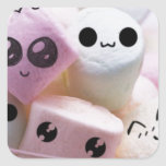 cute smiley face marshmallows stickers