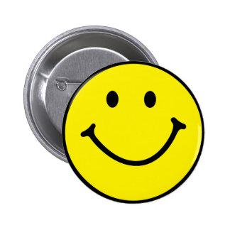 Cute Smiley Face Pinback Button