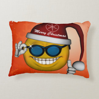 Cute smiley accent pillow