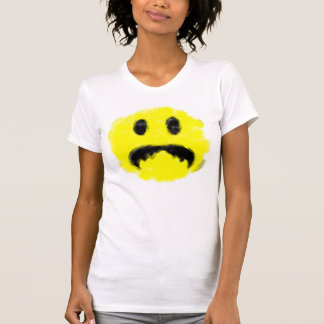 Cute Smiley Moustache Art Brush Handmade Awesome T Shirts