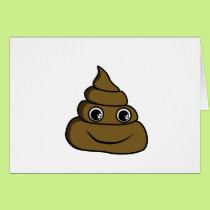 cute smiley poop card