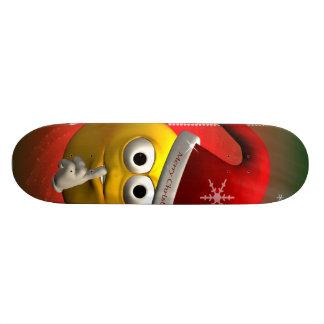 Cute smiley skate board deck