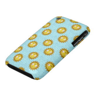 cute smiley sunshine pattern iPhone 3 covers