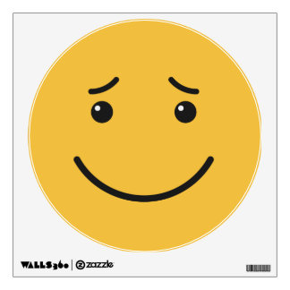 Cute Smiley wall decal 6/9