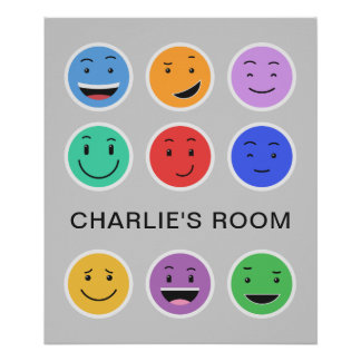 Cute Smileys custom text poster