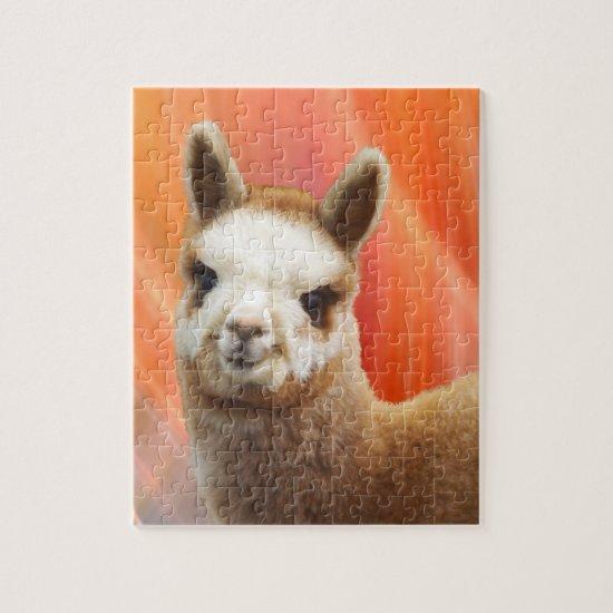 Cute Smiling Alpaca Puzzle