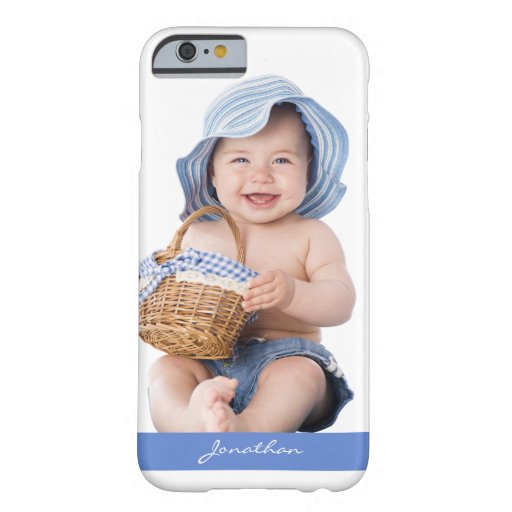 Cute Smiling Baby Blue White Barely There iPhone 6 Case