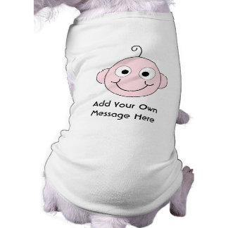 Cute Smiling Baby. Custom Text. Doggie Shirt
