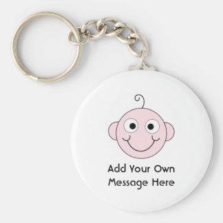 Cute Smiling Baby. Custom Text. Key Chain
