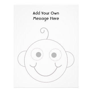 Cute Smiling Baby. Custom Text. Personalized Letterhead