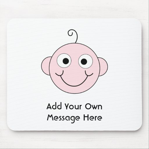Cute Smiling Baby. Custom Text. Mouse Pad
