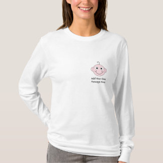 Cute Smiling Baby. Custom Text. T-Shirt