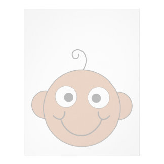 Cute Smiling Baby. Customized Letterhead