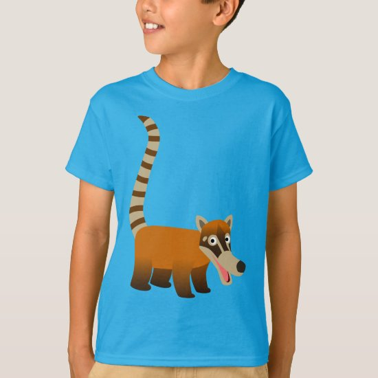 Cute Smiling Cartoon Coatimundi Children T-Shirts