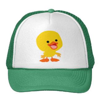 Cute Smiling Cartoon Duckling Hat