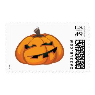 Cute Smiling Cartoon Halloween Pumpkin - Medium Postage