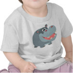 Cute Smiling Cartoon Hippo Baby T-Shirt