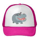 Cute Smiling Cartoon Hippo Hat