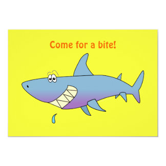 Cute Smiling Cartoon Shark Customizable Template