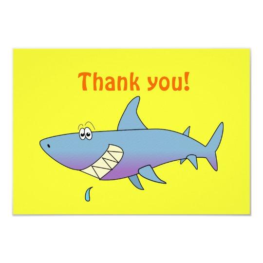 Cute Smiling Cartoon Shark Customizable Template Card