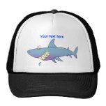 Cute Smiling Cartoon Shark Customizable Template Hats