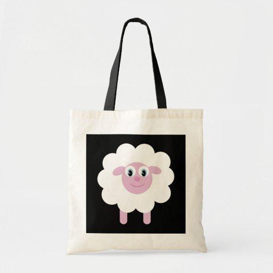Cute Smiling Cartoon Sheep Charity Tote Bag