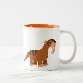 Cute Smiling Cartoon Thylacosmilus Mug