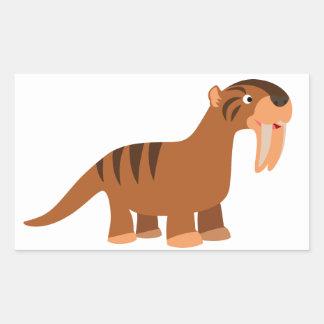 Cute Smiling Cartoon Thylacosmilus Sticker