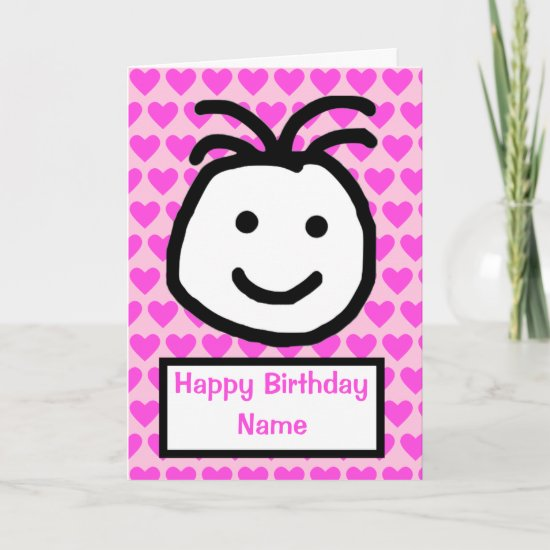 Cute Smiling Face Birthday Card