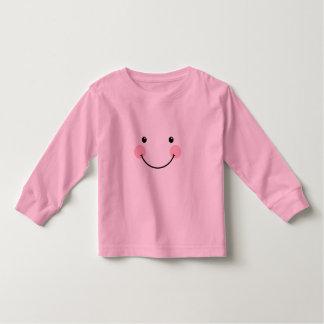 Cute Smiling Face Toddler Long Sleeve Toddler T-shirt